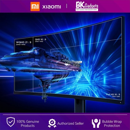 """XIAOMI Mi Curved Gaming Monitor 34"""" - 21:9 UltraWide Panoramic View 