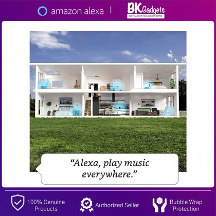 AMAZON Echo Dot 4 ( 4th Generation ) with Clock Display - Alexa Assistant Smart Speaker & Home Assistant Smart Speaker for Any Room