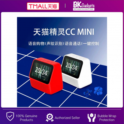 TMALL Genie CC Mini Build in Tmall Genie Smart Assistant - Smart AI Speaker with 4 Inch LCD Display Touch Screen   Camera