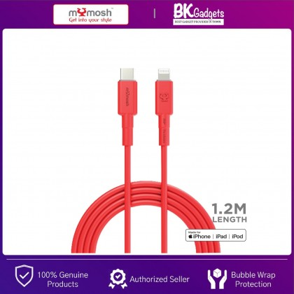 MYMOSH Type-C to Lightning Cable [ Apple MFI Certified ] Compatible for IPHONE, IPAD, IPOD   1.2M LENGTH