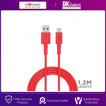 MYMOSH USB to Type-C Cable [ 5A/9V ] - SuperCharge | Fast Charge | 1.2M Length