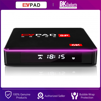 Evpad 5p Media Player - Andriod 7.0 | 4G Ram/32G Rom | Bluetooth 4.2 | LED Display | Lan Port | USB 2.0 Slot | USB3.0 | Support 2.4Ghz/5.8Ghz | Wi-Fi Connection