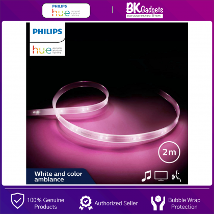 Philips HUE Smart LED Lightstrip Plus V4 [ White and Color Ambiance 2 Meter ] - 50 Lights Throughout Your Whole Home