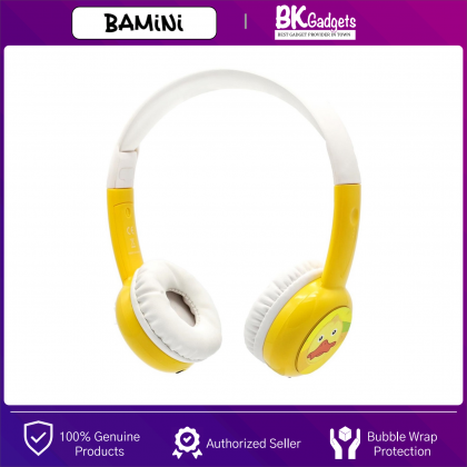 BAMINI Study - Child Stereo Over-Ear Wired Headphone | Low Decibel Hearing | Early Childhood Education with Microphone | Volume Control