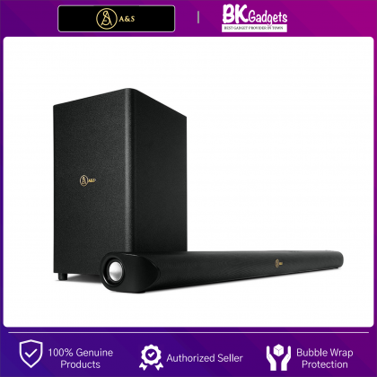 A&S Cinematic Bar with Dolby Atmos 800 - Incredible Dolby Atmos 5.1.2 Channel Soundbar System | Maximum Power Output 380W