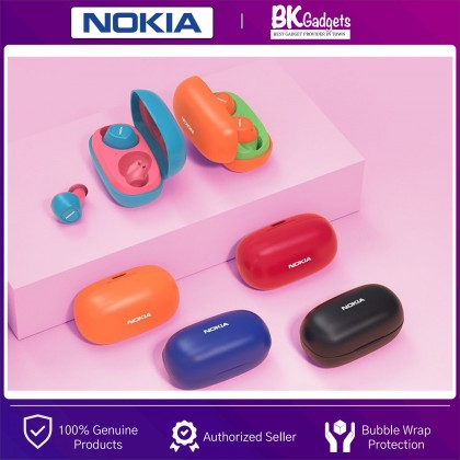 NOKIA Essential E3100 True Wireless Stereo Earphones with Case - Voice Control on Demand | Bluetooth 5.0 | 10H Play Time