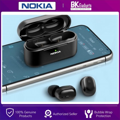 NOKIA Essential E3200 True Wireless Stereo Earphones with Case - Voice Control on Demand   Bluetooth 5.0   17H Play Time   IPX57 Waterproofs