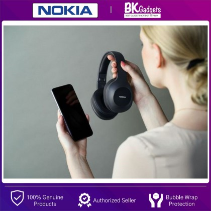 NOKIA Essential E1200 Over-the-Ear Wireless Headphones - Voice Control on Demand | Bluetooth 5.0 | 40H Play Time | Dynamic Bass