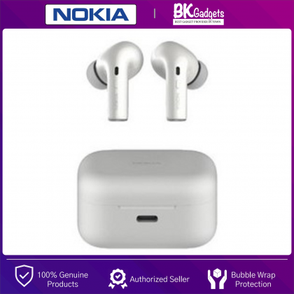 NOKIA Essential E3500 True Wireless Stereo Earphones with Case - Voice Control on Demand | Bluetooth 5.0 | 25H Play Time | IPX5 Waterproofs | Ambient Mode