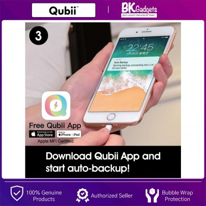 Maktar Qubii Keeping Memories Safe Device When Charging Your IOS Device - Be Free of Monthly Fees