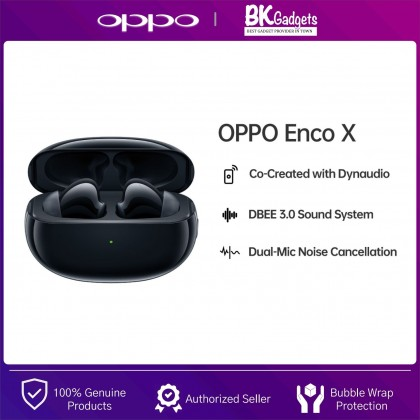 OPPO Enco X True Wireless Headphone - Co-Created with Dynaudio   Coaxial Dual Driver Design   DBEE 3.0 Sound System   IP54 Water Resistance   25H PlayTime