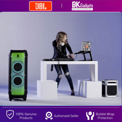 JBL PartyBox 1000 Powerful Portable Bluetooth Party Speaker - 1100W   Full Panel Light Effects   Light Show   JBL Signature Sound   Air Gesture Wristband