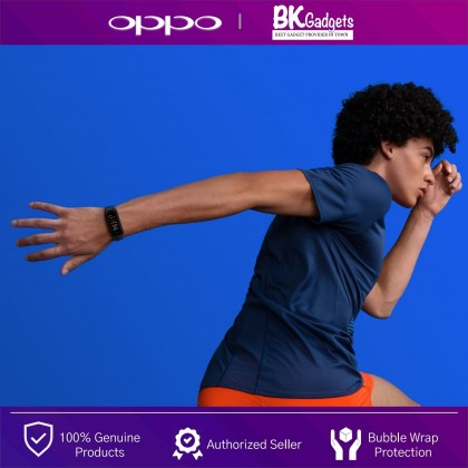 OPPO Band - SpO2 Monitoring   12 Workout Modes   Health Guardian   Fast Charging   5ATM   Dazzle Large Screen