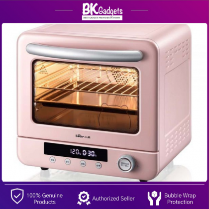 Bear Air fryer Steam Oven [ 20L ] BSO-P200L - PINK | Microcomputer Control | Water Steam Baking | 1300W | Cyclone Thermal |