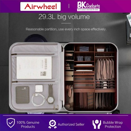 Airwheel SE3 Smart Riding Suitcase 29.3L - Towing   Scooter Ride   Charging Ports   One Button Auto Stretch   LED Display