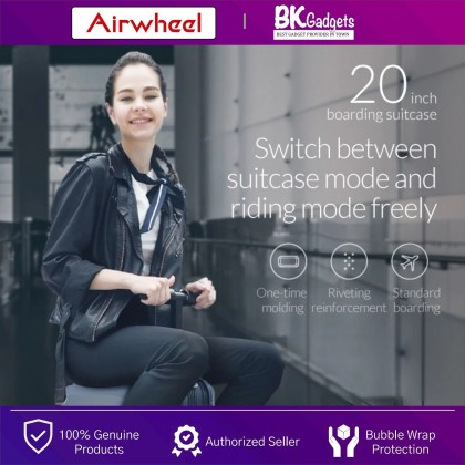 """Airwheel SE3 Mini Smart Riding Suitcase 26L - Towing   Scooter Ride   Charging Ports   Cabin 20"""" Size   Smart Handle"""