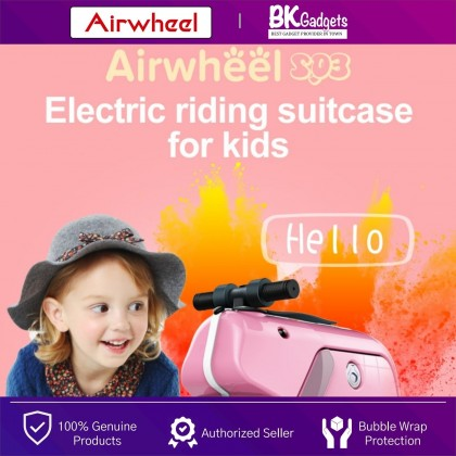 """Airwheel SQ3 Kids Smart Riding Suitcase 15L - Towing   Scooter Ride   Music Player   Cabin 20"""" Size   Smart Handle"""