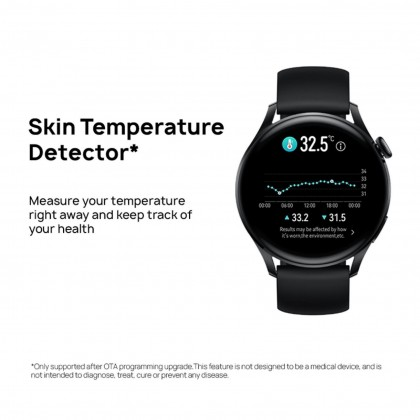 HUAWEI WATCH 3 Smart Watch 46MM - eSIM Cellular Calling | Health Management | 3-Day Battery Life | FREE Strap