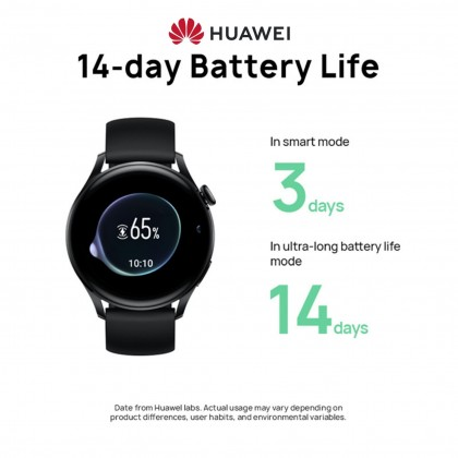 HUAWEI WATCH 3 46MM Smart Watch - eSIM Cellular Calling   Health Management   3-Day Battery Life   FREE Strap