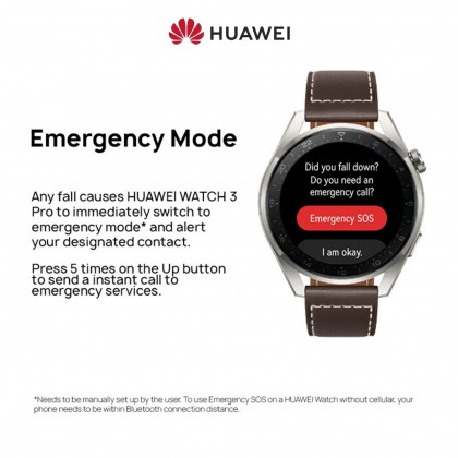HUAWEI WATCH 3 Pro 46MM Smart Watch - eSIM Cellular Calling | Health Management | Up To 5-Day Battery Life | FREE Strap