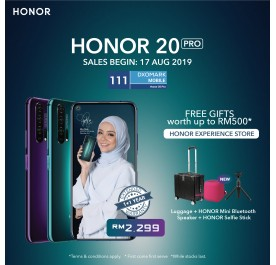 Honor 20 Pro 8/256GB Phantom Black - Original from Honor Malaysia 1 Year Warranty