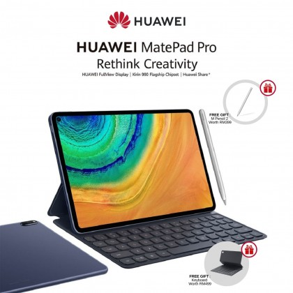 """HUAWEI Matepad Pro WIFI [ 8GB + 256GB ] 10.8"""" Tablet - with Keyboard + M-Pencil 