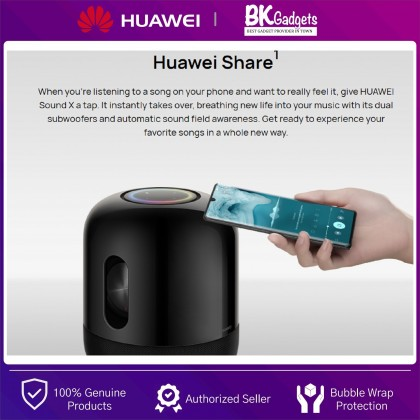HUAWEI Sound X Speaker Co-Engineered with DEVIALET - Huawei Share   Surround Sound   Dual Subwoofers