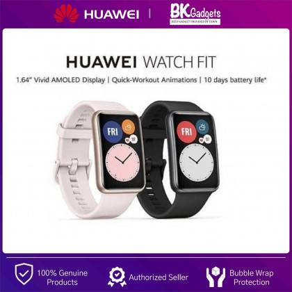 HUAWEI WATCH FIT 30MM - 10 Days Battery Life   96 Workout Modes   GPS   Oxygen Saturation Detection