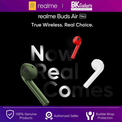 Realme Buds Air Neo - Dynamic Bass Boost | Gaming Mode | 17H Play Time | One-touch Google Assistant
