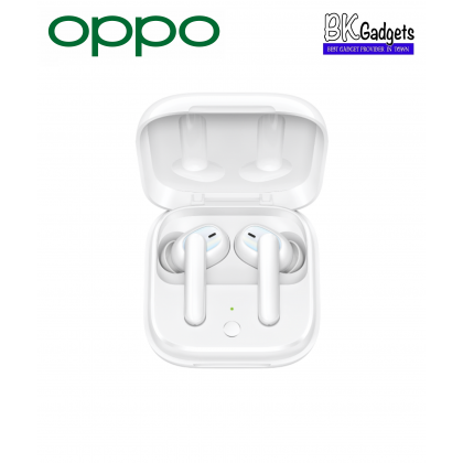 OPPO Enco W51 Bluetooth True Wireless Earbuds [ Pearl White ] + Noise cancelling + Qi Wireless Charging + Dual Technology for both crystal clear Music and Calls + IP54 Rated Dust and Water Resistance