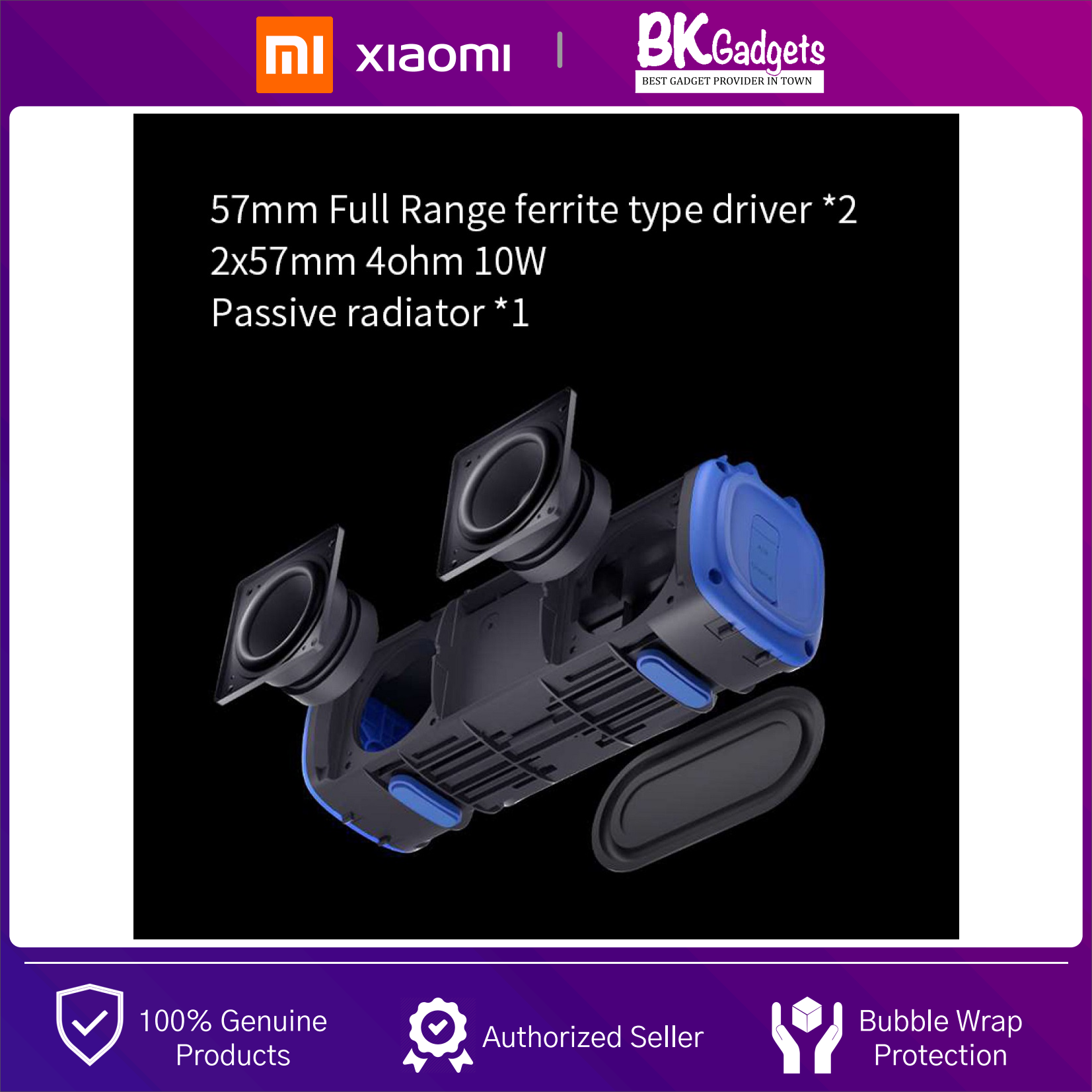 Xiaomi Mi Portable Bluetooth Speaker - Outdoor 16W | TWS Connection High Quality Sound | IPX7 Waterproof | 13 hours Playtime