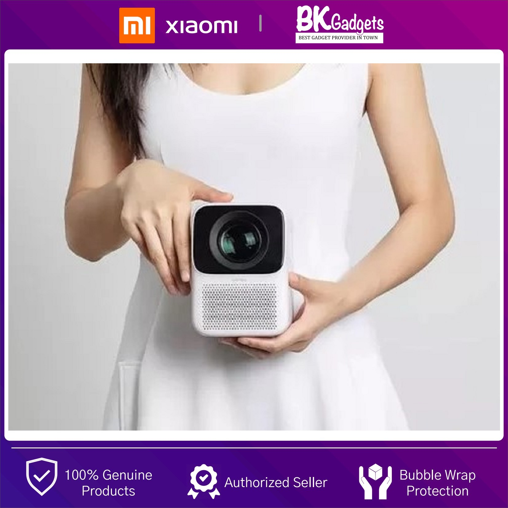 XiaoMi Wanbo T2 Free Vertical Keystone Correction Mini Portable Projector - Home Theater | Support HDMI/USB /Bluetooth